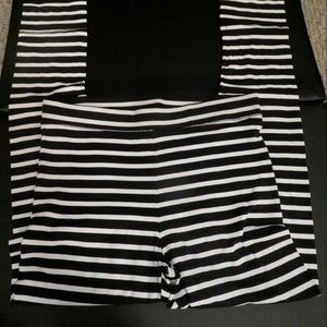 Victoria's Secret Pink Black White Striped Legging